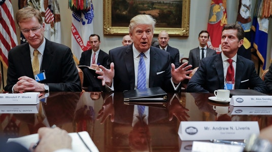 President Trump Meets with Business Execs, Pledges to Cut Taxes and Regulations