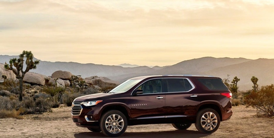 2018 Chevy Traverse SUV is shown in this undated photo released at the North American International Auto Show in Detroit, Michigan, U.S. on January 8, 2017. Chevrolet/Handout via REUTERS