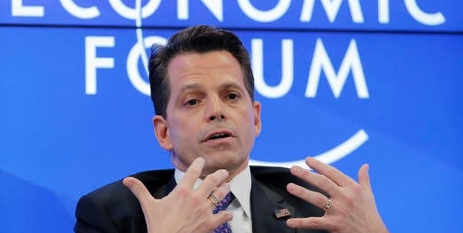 US's Anthony Scaramucci, who is part of President-elect Donald Trump's transition team, speaks at the World Economic Forum in Davos, Switzerland, Tuesday, Jan. 17, 2017. (AP Photo/Michel Euler)