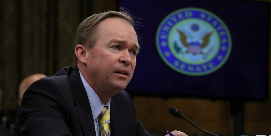 Rep. Mick Mulvaney (R-SC) testifies before a Senate Budget Committee confirmation hearing on his nomination of to be director of the Office of Management and Budget on Capitol Hill in Washington, U.S., January 24, 2017. REUTERS/Carlos Barria - RTSX5N9
