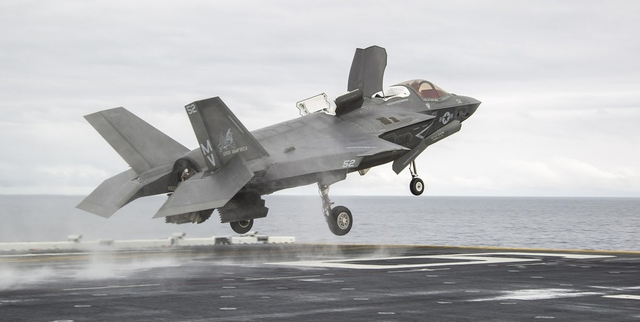 Lockheed Martin F-35 taking off FBN