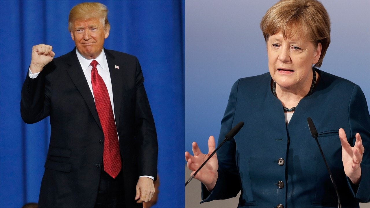 Trump Touts Jobs, Jabs Merkel on Trade, NATO