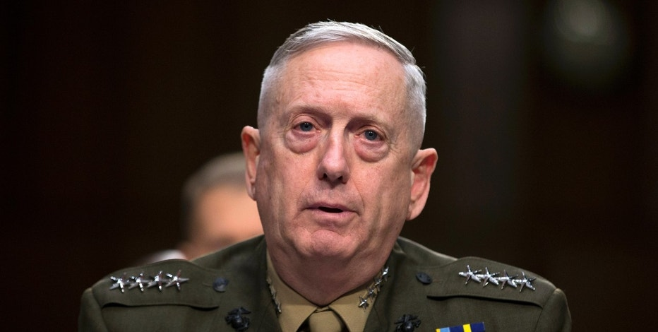 FLE - In this March 5, 2013, file photo, then-Marine Gen. James Mattis, commander, U.S. Central Command, testifies on Capitol Hill in Washington. President-elect Donald Trump says he will nominate retired Gen. James Mattis to lead the Defense Department.(AP Photo/Evan Vucci, File)