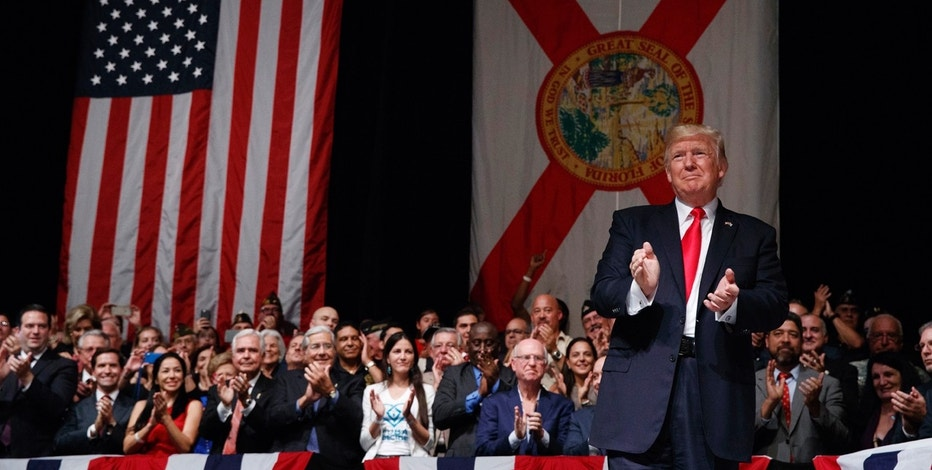 Miami. The president announced changes to Obama-era Cuba policy and challenged the Castro government to negotiate a better deal