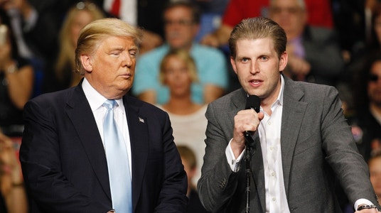 Eric Trump responds to celebrity threats, slams Dems