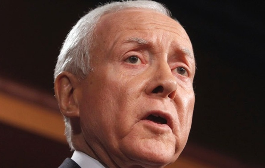 Feb. 2, 2011: Sen. Orrin Hatch, R-Utah, speaks on Capitol Hill in Washington.