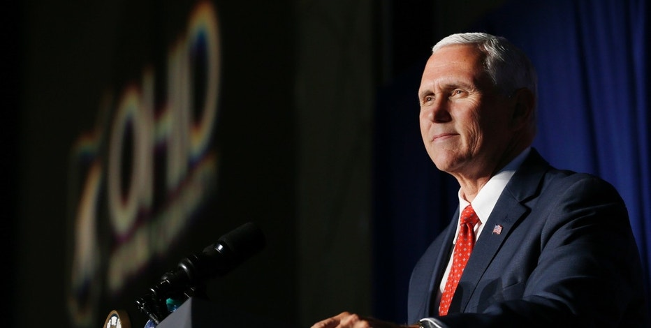 Vice President Mike Pence speaks at the the Ohio Republican Party State Dinner Saturday, July 22, 2017, in Columbus, Ohio. (AP Photo/Jay LaPrete)