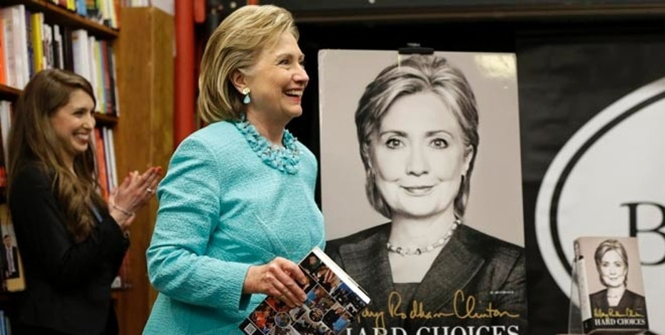 "HiIlary Rodham Clinton at a book signing for her new book ""Hard Choices"" at Harvard Book Store, Monday, June 16, 2014, in Cambridge, Mass."