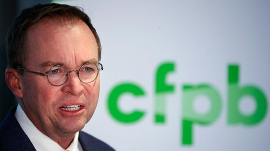 Mulvaney's budget request for the CFPB: $0