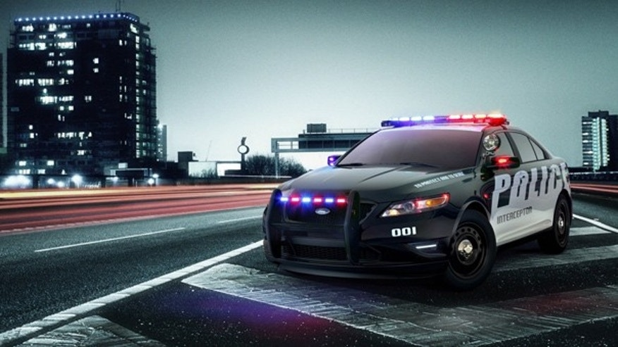 The Ford Police Interceptor Concept car is seen. (Ford Motor Co.)