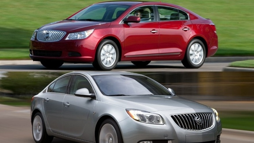 Buick LaCrosse (Top) and Buick Regal (Bottom)