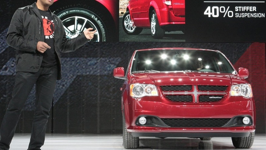 Dodge President and CEO Ralph Gilles introduces the Grand Caravan R/T at the 2011 Chicago Auto Show