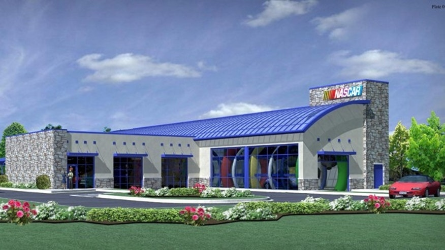 Rendering of the NASCAR Car Wash planned for Joliet, Ill.