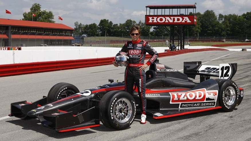 Dan Wheldon with the 2012 Dallara IndyCar