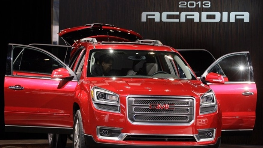 Feb. 8, 2012: GMC introduces the 2013 Acadia vehicle during the media preview of the Chicago Auto Show at McCormick Place in Chicago.