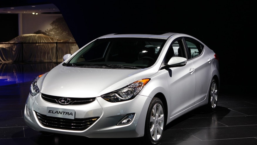 The 2012 Hyundai Elantra at the North American International Auto Show in Detroit. (AP Photo/Paul Sancya, File)