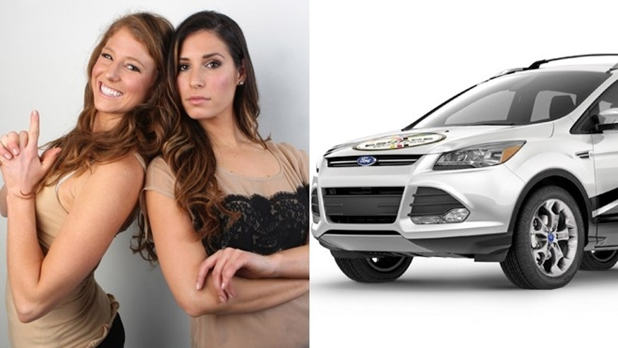 Contestants Tara and Bre and the 2013 Ford Escape