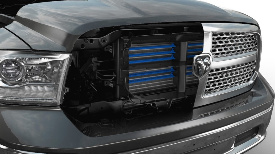 2013 Ram 1500 is the first truck to employ an active grille shutter system for improved aerodynamics, increasing fuel economy by 0.5 percent