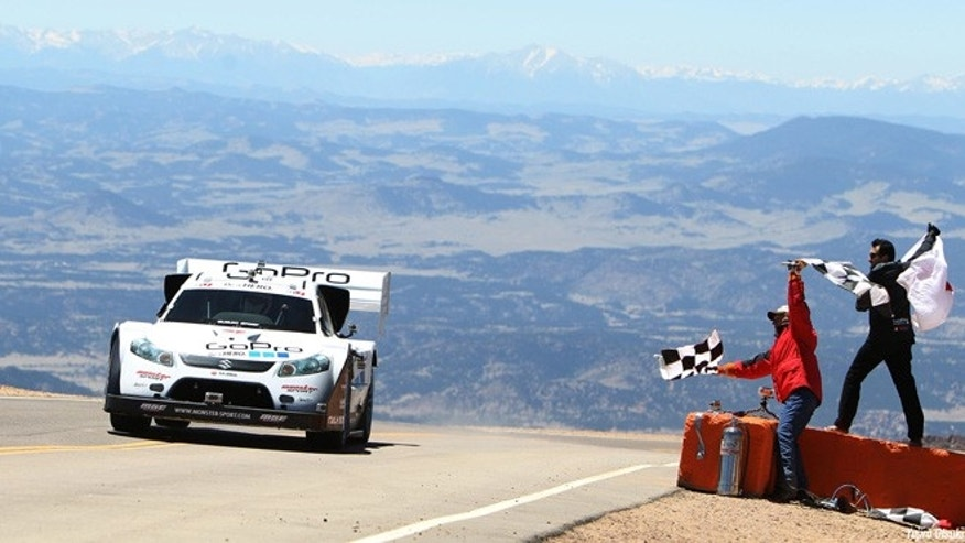 """Monster"" Tajima winning 2011 Pikes Peak International Hillclimb"