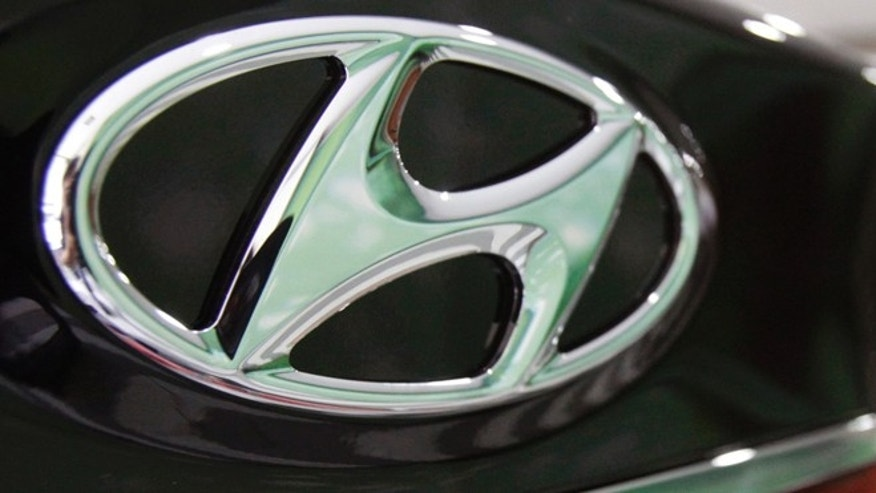 July 26, 2012: In this file photo, the logo of Hyundai Motor Co. is seen on its car at the company's showroom in Seoul, South Korea.