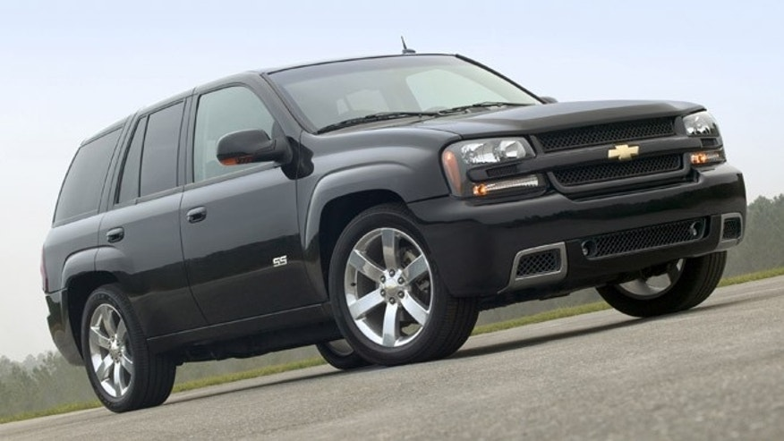 This undated file photo made available by General Motors Co., shows the 2006 Chevy TrailBlazer SS sport utility vehicle.