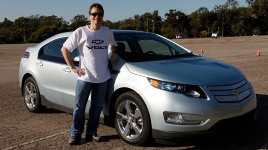 Lyle Dennis with the Chevy Volt
