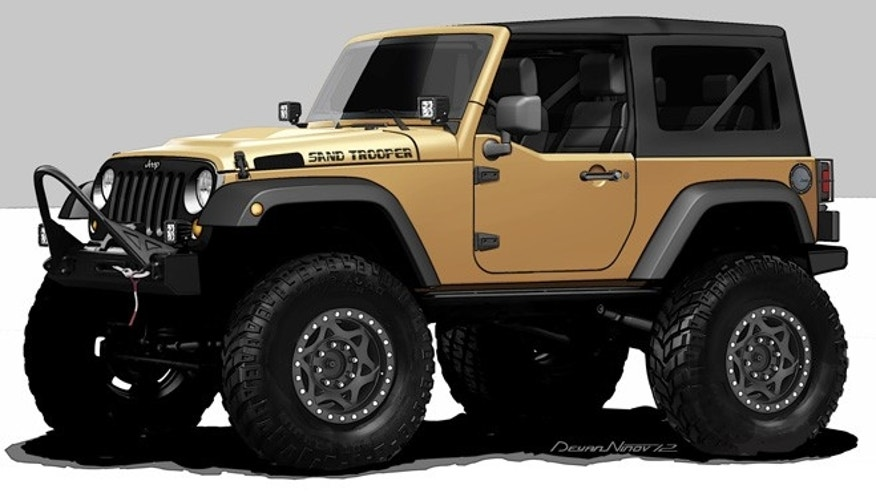 The Jeep Wrangler Sand Trooper is one of 24 custom vehicles that Mopar will bring to the 2012 Specialty Equipment Market Association (SEMA) show in Las Vegas. In addition to customized vehicles, Mopar will feature more than 500 parts and accessories throughout its exhibit. This year marks the 75th anniversary of the Mopar brand.