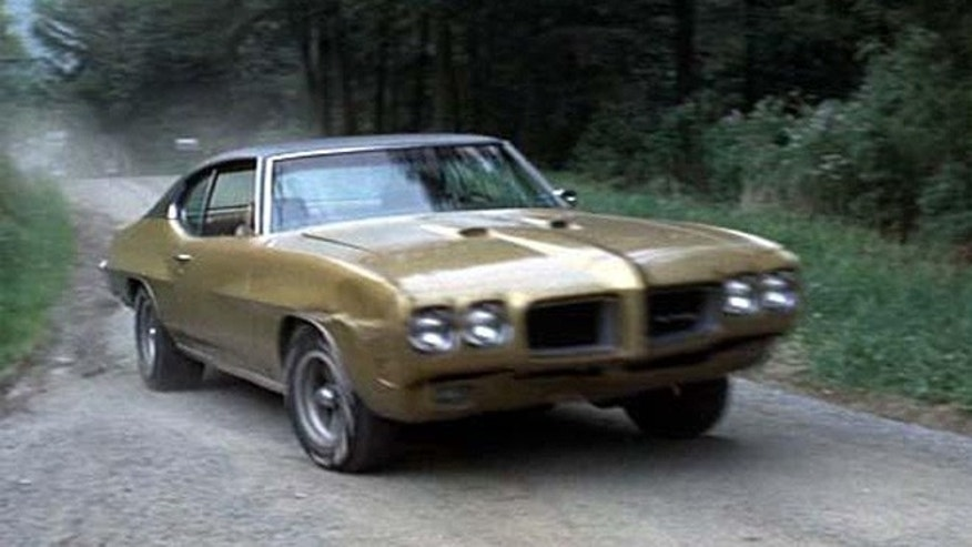 "This 1970 Pontiac GTO was driven by Reg Dunlop (Paul Newman) in the sports classic ""Slap Shot""."