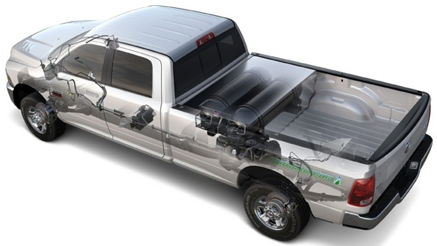 2012 Ram 2500 Heavy Duty CNG with bi-fuel capability—powered by compressed natural gas or gasoline.
