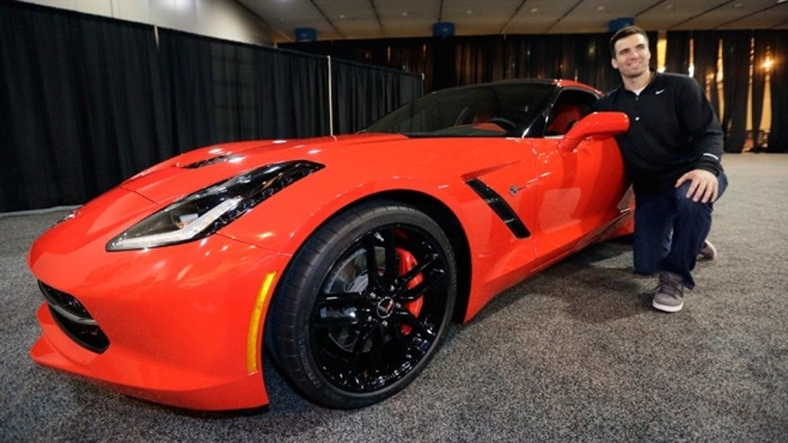 Ravens Quarterback Joe Flacco and the 2014 Chevrolet Corvette