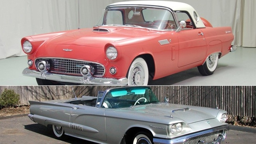 1956 and 1958 Ford Thunderbirds