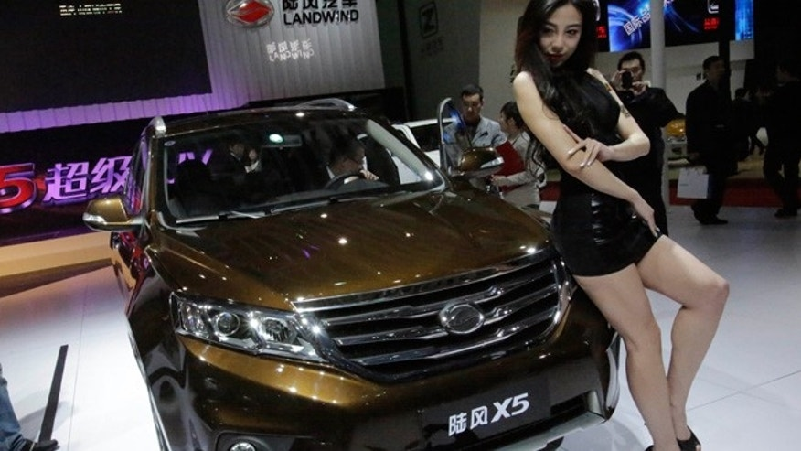 Landwind X5 SUV at the Shanghai International Automobile Industry Exhibition