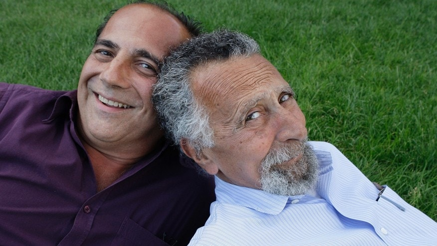 "In this June 19, 2008 photo, brothers Ray, left, and Tom Magliozzi, co-hosts of National Public Radio's ""Car Talk"" show, pose for a photo in Cambridge, Mass. NPR says Tom Magliozzi died Monday, Nov. 3, 2014 of complications from Alzheimer's disease. He was 77. (AP Photo/Charles Krupa)"