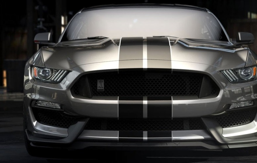 The All-new Shelby GT350 Mustang CGI image