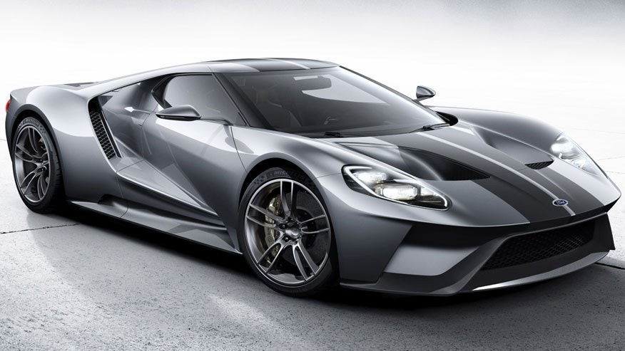 The all-new Ford GT supercar in Liquid Silver