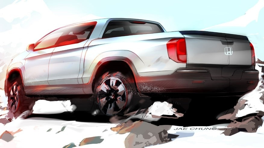 Next-Gen Honda Ridgeline Previewed at 2015 Chicago Auto Show