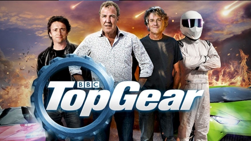 Jeremy Clarkson is pictured second from left in this Top Gear promotional graphic