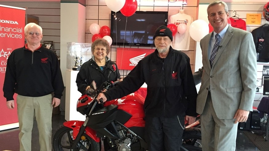 Honda Financial Service Presents Loyal Owner With 55th Honda Mot