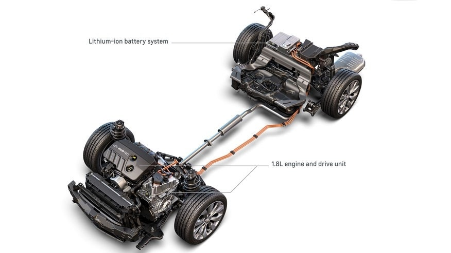 2016 Chevrolet Malibu Hybrid Lithium-Ion Battery System, 1.8L Engine and Drive Unit