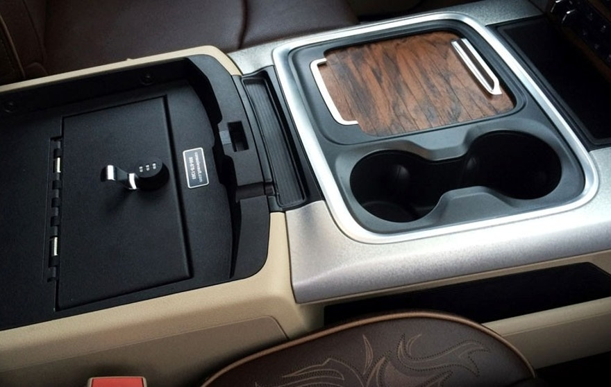 2015 Ram 1500 Texas Ranger Concept truck -  console with lid open