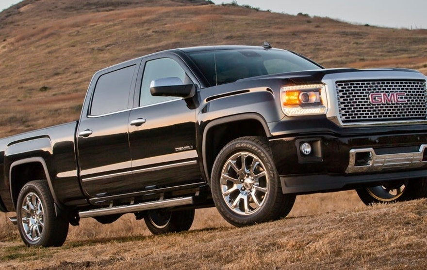 2015 GMC Sierra Denali Crew Cab Front Three Quarter in Onyx Black - Santa Barbara