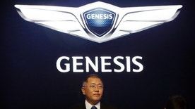 Hyundai Motor Co. Vice Chairman Chung Euisun listens to a question during a press conference in Seoul, South Korea, Wednesday, Nov. 4, 2015. The company said Wednesday it has launched a premium car brand named after its Genesis sedan to boost earnings and its share of the fast-growing global market for luxury vehicles.(AP Photo/Ahn Young-joon)