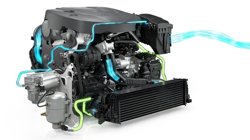 (Compressed air flow in green)