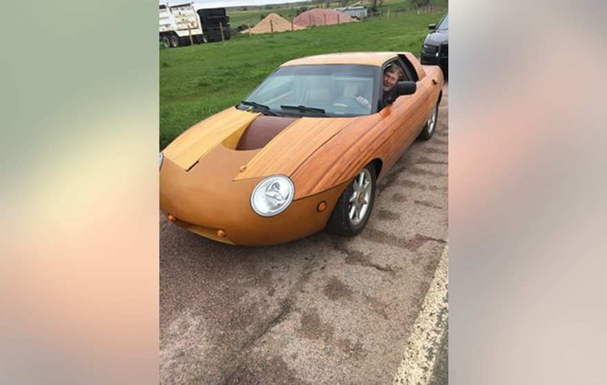 A Nebraska police officer encountered this unique car on a state highway.