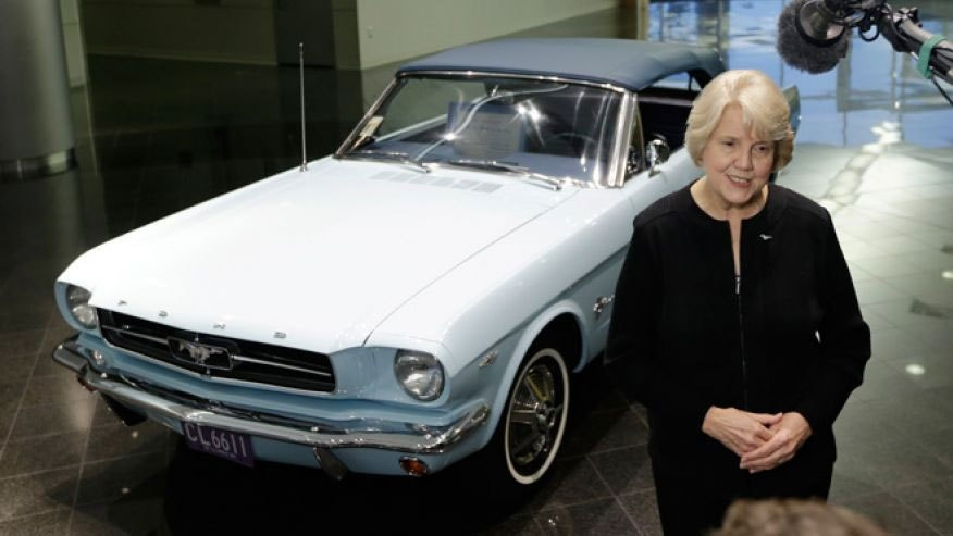 Gail Wise and her Mustang