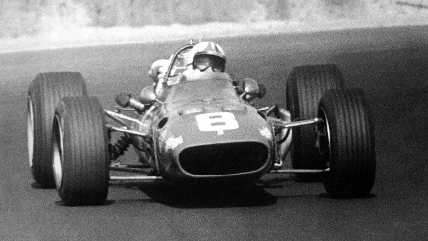 Chris Amon of New Zealand, driving his Ferrari during the South African Grand Prix in Johannesburg, South Africa, on Jan. 1, 1968. The race was won by Scotlands Jim Clark. (AP Photo/Staff/Worth)