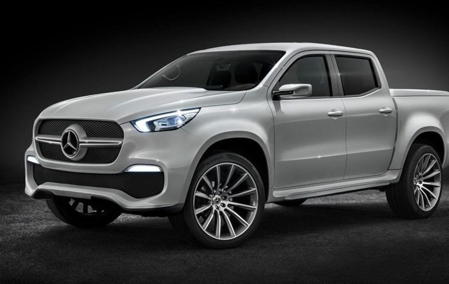 Mercedes benz x class pickup revealed fox news for Pick up mercedes benz