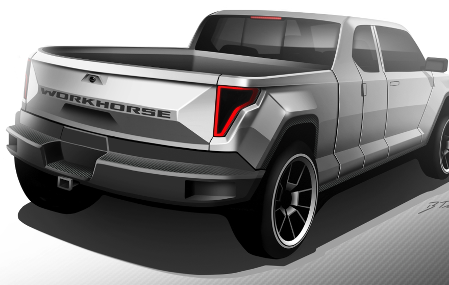 Futuristic hybrid-electric pickup is a real Workhorse ...