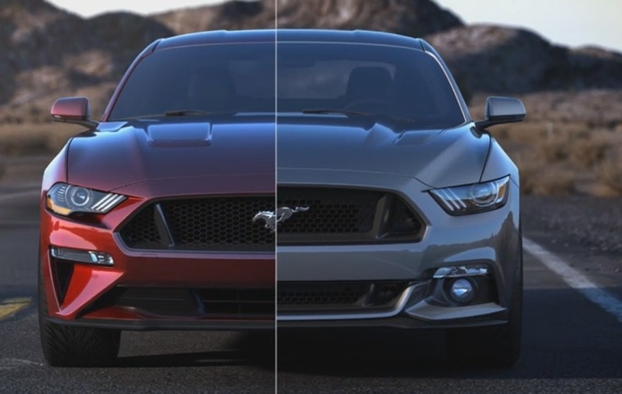 2018 ford mustang gets new styling more power and tech. Black Bedroom Furniture Sets. Home Design Ideas