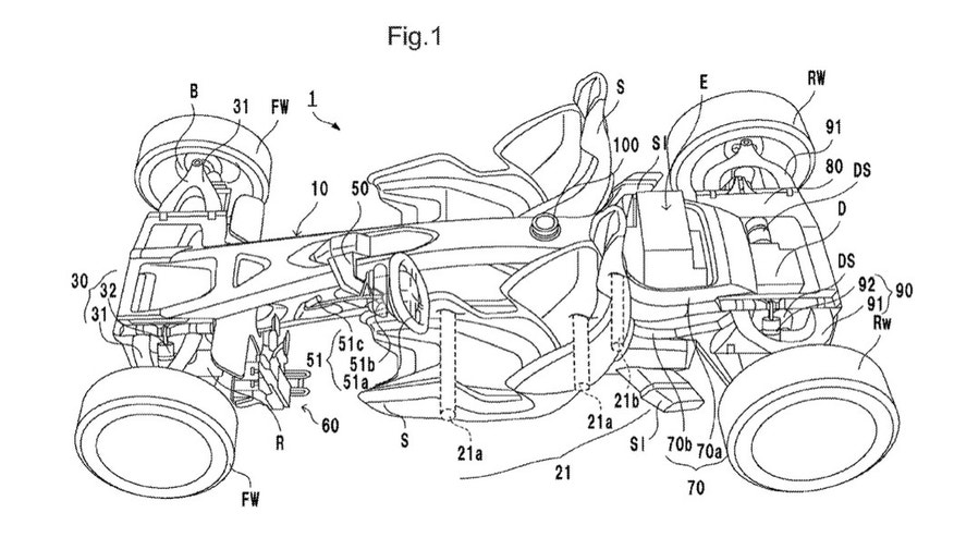 Honda files a patent for a radical mid-engine sports car